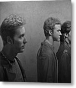 Back Stage With Nsync Bw Metal Print by David Dehner