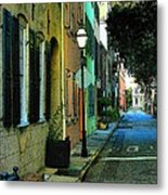 Back Street In Charleston Metal Print
