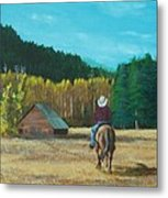 Back To The Barn Metal Print