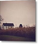 Back To The Old House Rustic Farmhouse Photo Metal Print