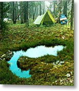 Backcountry Camp Metal Print by Ric Soulen