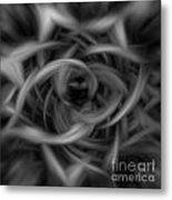 Background Flames Bw Dark Metal Print