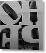 Backside Of Hope In Black And White Metal Print