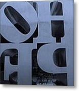 Backside Of Hope In Cyan Metal Print