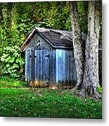 Backyard Barn Metal Print