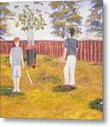 Backyard Cricket Under The Hot Australian Sun Metal Print