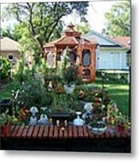 Backyard Garden Metal Print