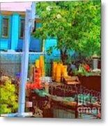 Backyard In Bright Colors Metal Print