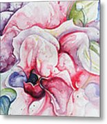 Backyard Peony Metal Print by Kelly Johnson