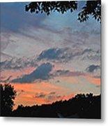 Backyard Sunset Metal Print