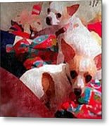 Bad Dogs Metal Print by Denisse Del Mar Guevara