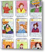 Bad Mom Cards Collect The Whole Set Metal Print