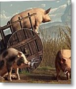 Bad Pigs Metal Print
