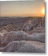 Badlands Overlook Sunset Metal Print