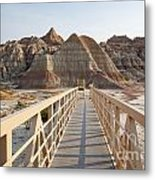 Badlands Walkway Metal Print