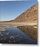 Badwater Basin In Death Valley National Park In Inyo County Metal Print