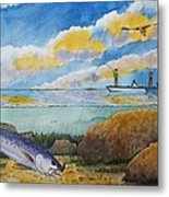 Fishing Baffin Bay Texas  Metal Print