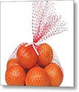 Bag Of Oranges Metal Print