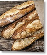 Baguettes Bread Metal Print