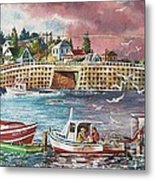 Bailey Island Cribstone Bridge Metal Print
