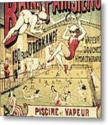Bains Parisiens. Advertisment Marking Metal Print