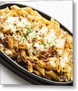 Baked Pasta With Meat And Cheese Metal Print
