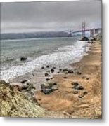 Baker Beach View Metal Print