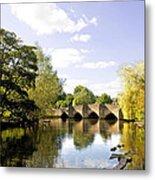 Bakewell Bridge - Over The River Wye Metal Print