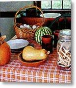 Baking A Squash And Pumpkin Pie Metal Print by Susan Savad