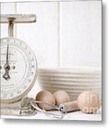 Baking Time Vintage Kitchen Scale Metal Print