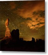 Balanced Rock And The Milky Way Metal Print