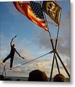 Balancing Act In Key West Metal Print