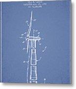 Balancing Of Wind Turbines Patent From 1992 - Light Blue Metal Print