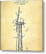 Balancing Of Wind Turbines Patent From 1992 - Vintage Metal Print