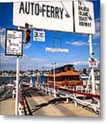 Balboa Island Auto Ferry In Newport Beach California Metal Print