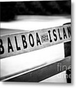 Balboa Island Bench In Newport Beach California Metal Print
