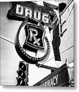 Balboa Pharmacy Drug Store Orange County Photo Metal Print