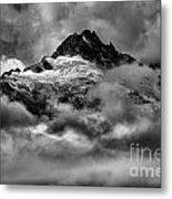 Balck And White Tantalus Peaks Metal Print