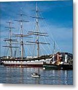 Rowing Past Balclutha And Steamship Eppleton Hall Metal Print