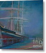 Balclutha In The Mist Metal Print