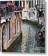 Balcony And The Gondola Metal Print