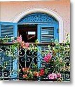 Balcony Blue By Diana Sainz Metal Print