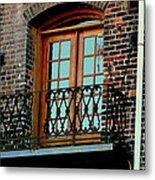 Balcony Doors Metal Print