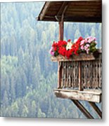 Balcony Overlooking The Forest Metal Print