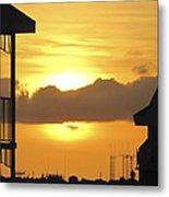 Key West Balcony Sunset Metal Print