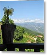 Balcony With A View Metal Print