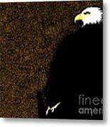 Bald Eagle In Repose Metal Print
