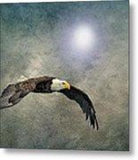Bald Eagle Textured Art Metal Print