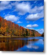 Bald Mountain Pond In Autumn Metal Print