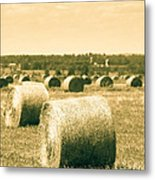 Baled And Ready Metal Print